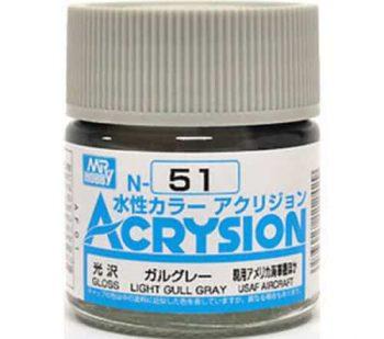 Mr. Color Acrysion Gloss Light Gull Gray N51