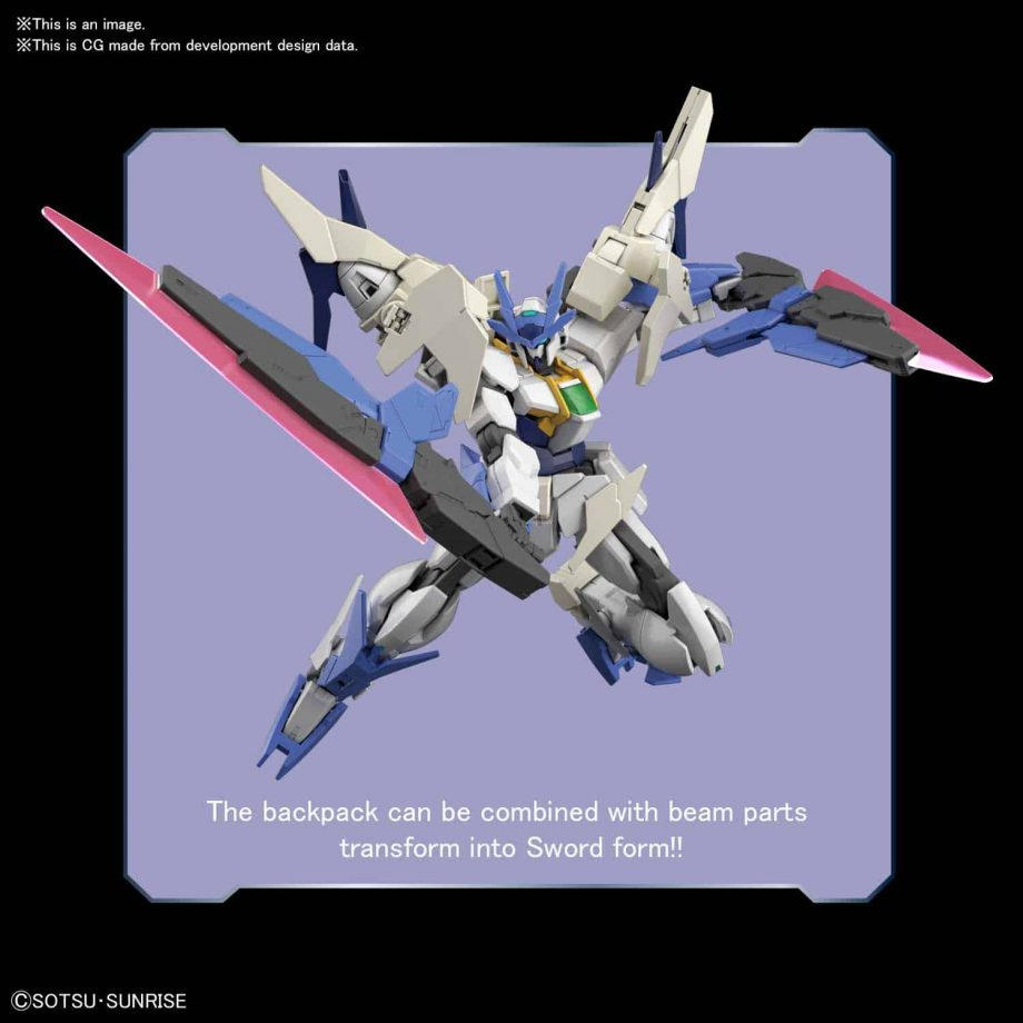 High Grade 00 Gundam Type New MS Pose 5