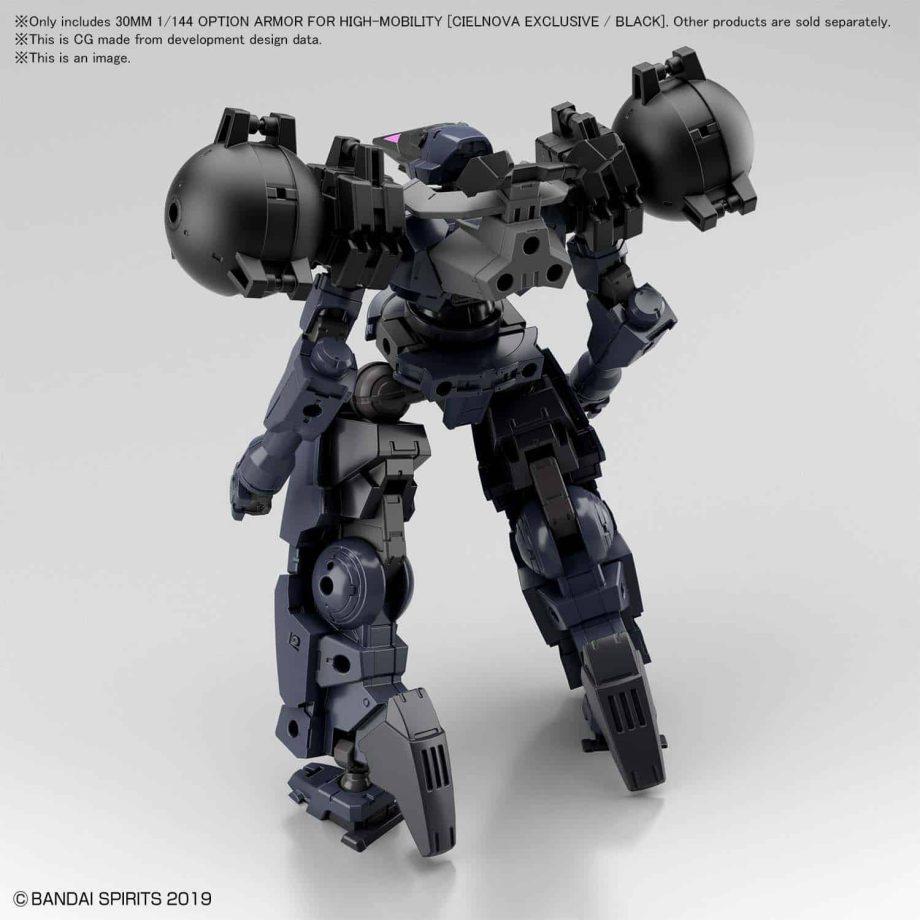 Cielnova Option Armor For High Mobility Black Pose 2