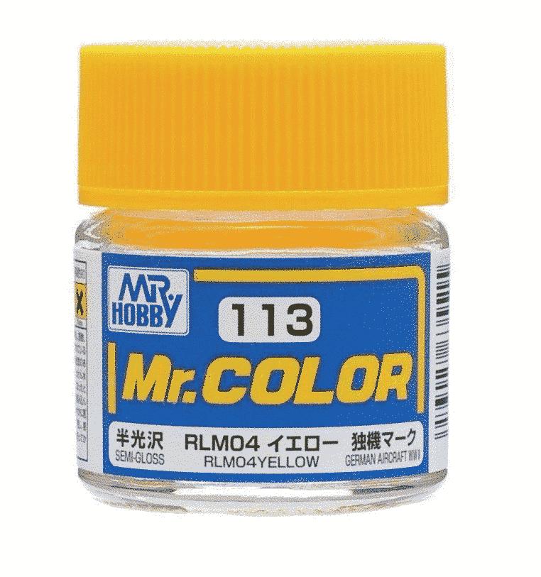 Mr. Color Semi Gloss RLM04 Yellow C113