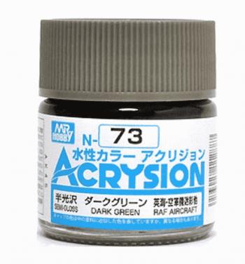 Mr. Color Acrysion Semi Gloss Dark Green N73
