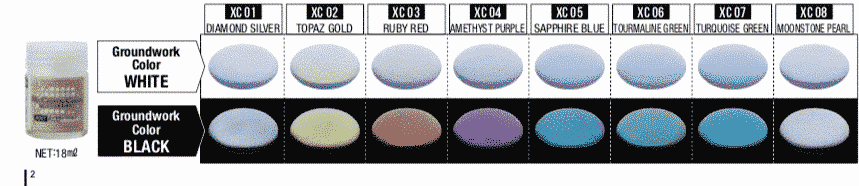 Mr. Crystal Color Paint Chart