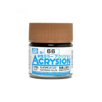 Mr. Color Acrysion Semi Gloss RLM79 Sand Yellow N66