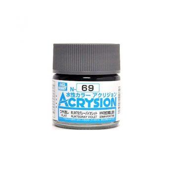 Mr. Color Acrysion Semi Gloss RLM75 Gray Violet N69