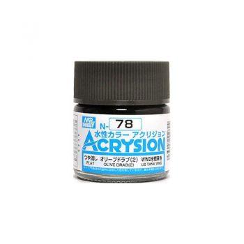 Mr. Color Acrysion Flat Olive Drab 2 N78