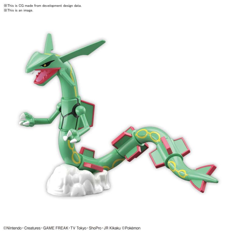 Rayquaza Model Kit Pose 1