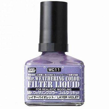 Mr. Weathering Color Filter Liquid Layer Violet WC11
