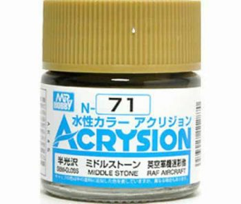 Mr. Color Acrysion Semi Gloss Middle Stone N71