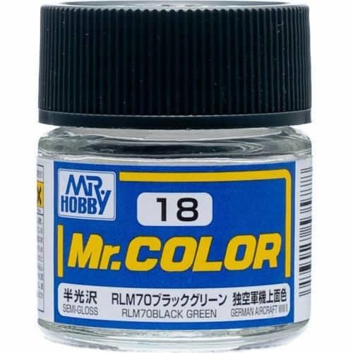 Mr. Color Semi Gloss RLM70 Black Green C18