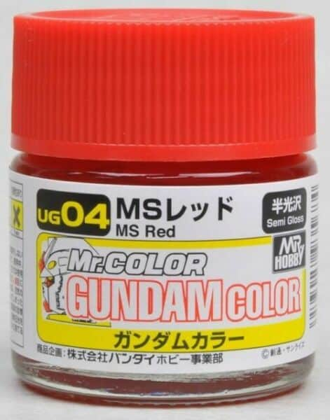 Mr. Color Gundam G Color Semi Gloss MS Red UG04