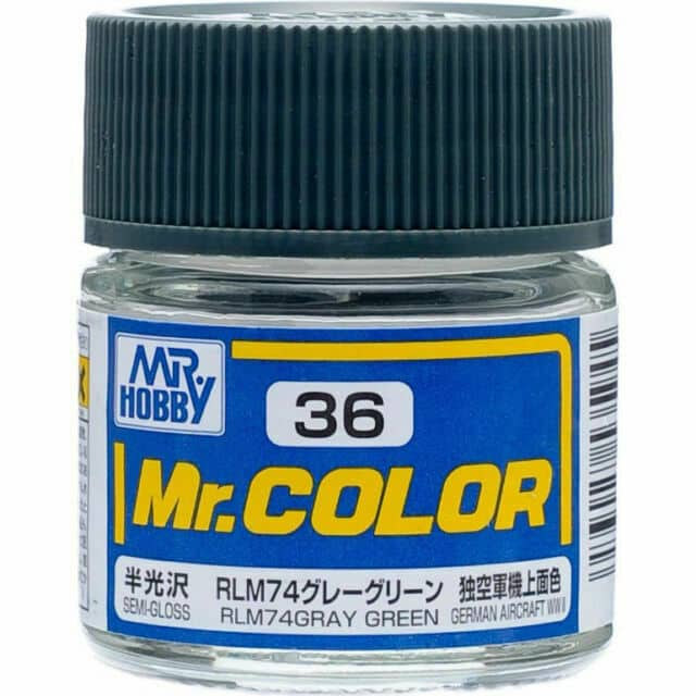 Mr. Color Semi Gloss RLM74 Gray Green C36