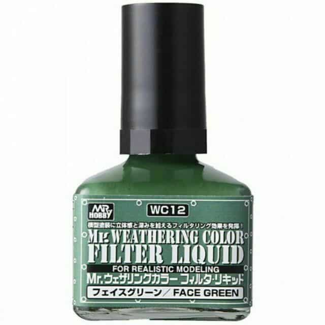 Mr. Weathering Color Filter Liquid Face Green WC12