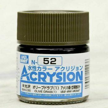 Mr. Color Acrysion Semi Gloss Olive Drab 1 N52