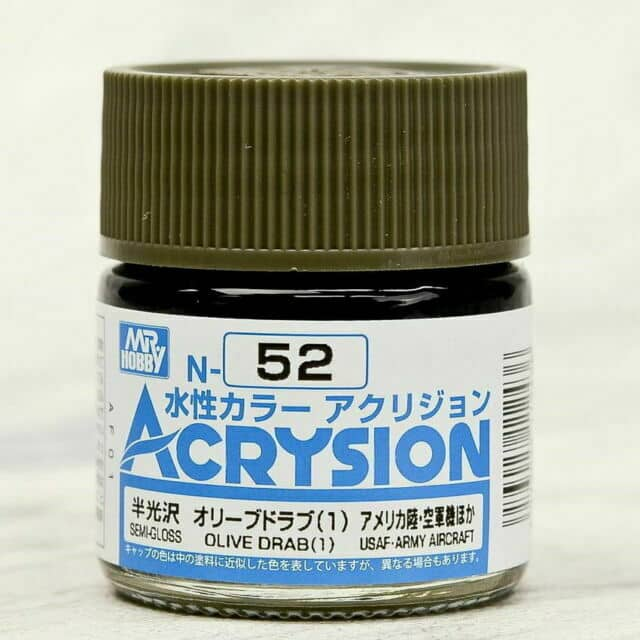 Mr. Color Acrysion Semi Gloss Olive Drab 1 N52