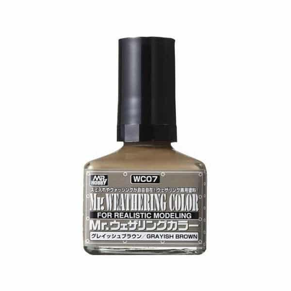 Mr. Weathering Color Filter Liquid Grayish Brown WC07