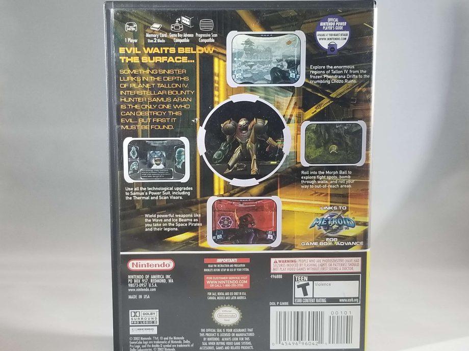 GameCube Metroid Prime Back
