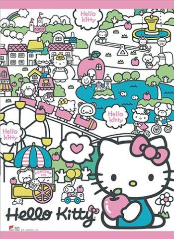 Hello Kitty Happy Land Wall Scroll