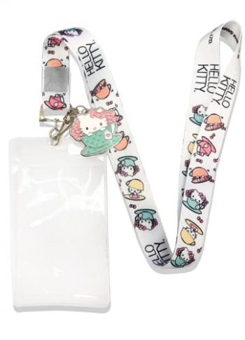 Hello Kitty Tea Cup Lanyard