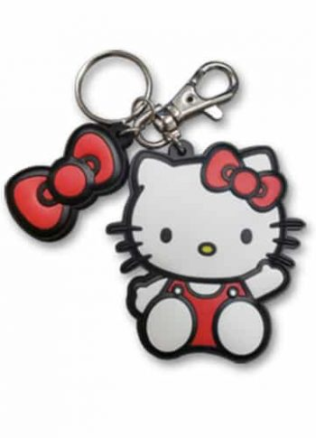 Hello Kitty With Bow PVC Keychain