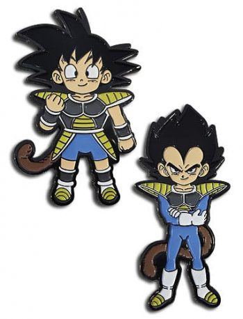 Kid Goku & Kid Vegeta Pin Set