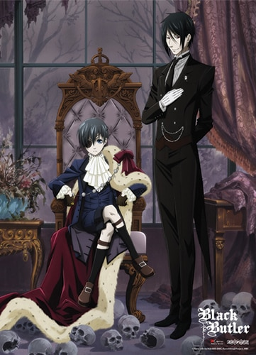 Black Butler Key Art Wall Scroll