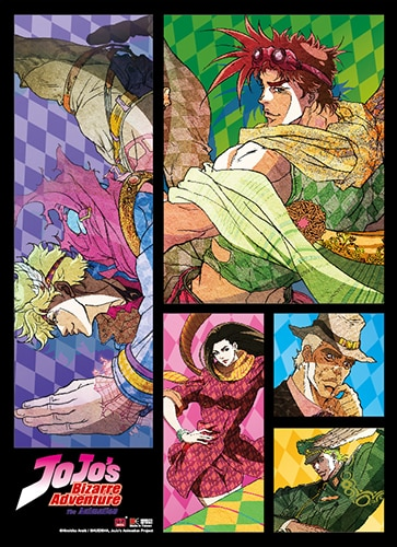JoJo's Bizarre Adventure Group Wall Scroll