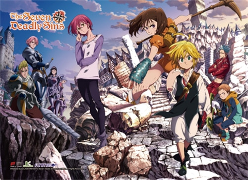 The Seven Deadly Sins Key Art 2 Wall Scroll