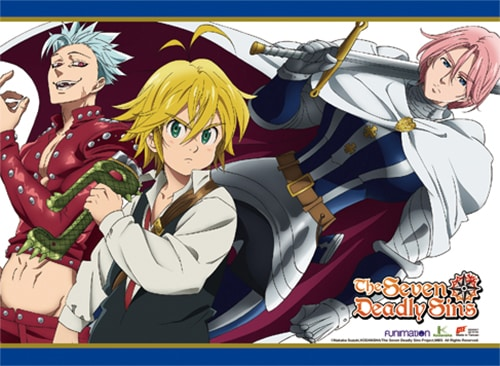 The Seven Deadly Sins Meliodas, Ban & Golthunder Wall Scroll