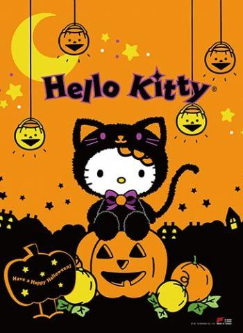 Hello Kitty Halloween Wall Scroll