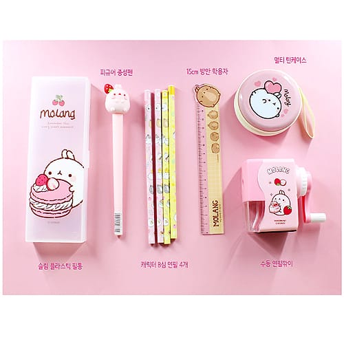 Molang Special Stationary Set Pink