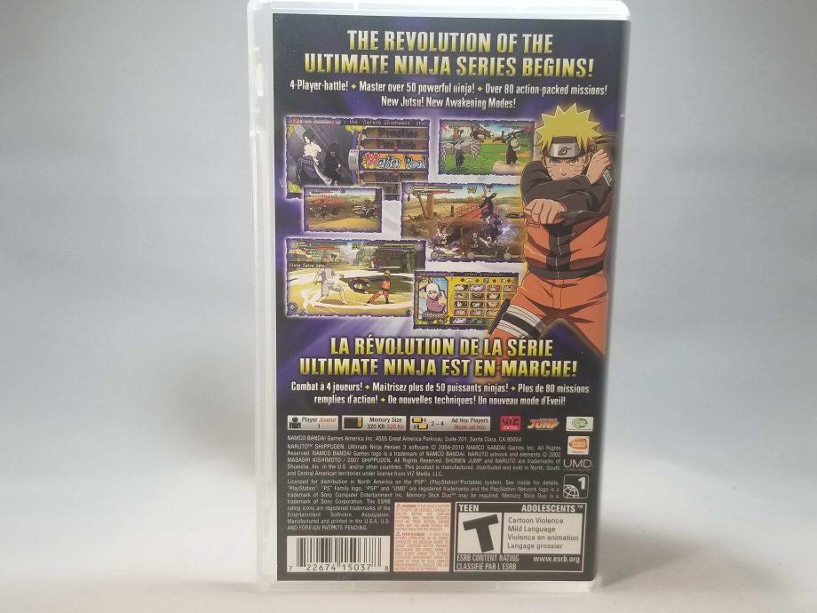 Naruto Shippuden Ultimate Ninja Heroes 3 Back