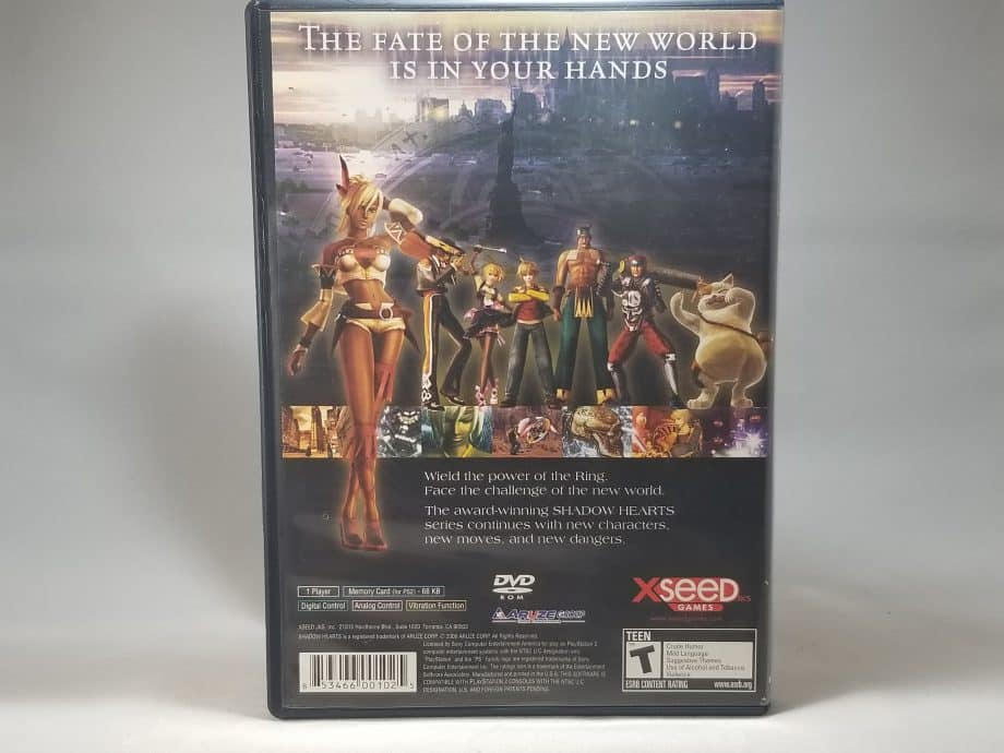 Shadow Hearts From The New World Back