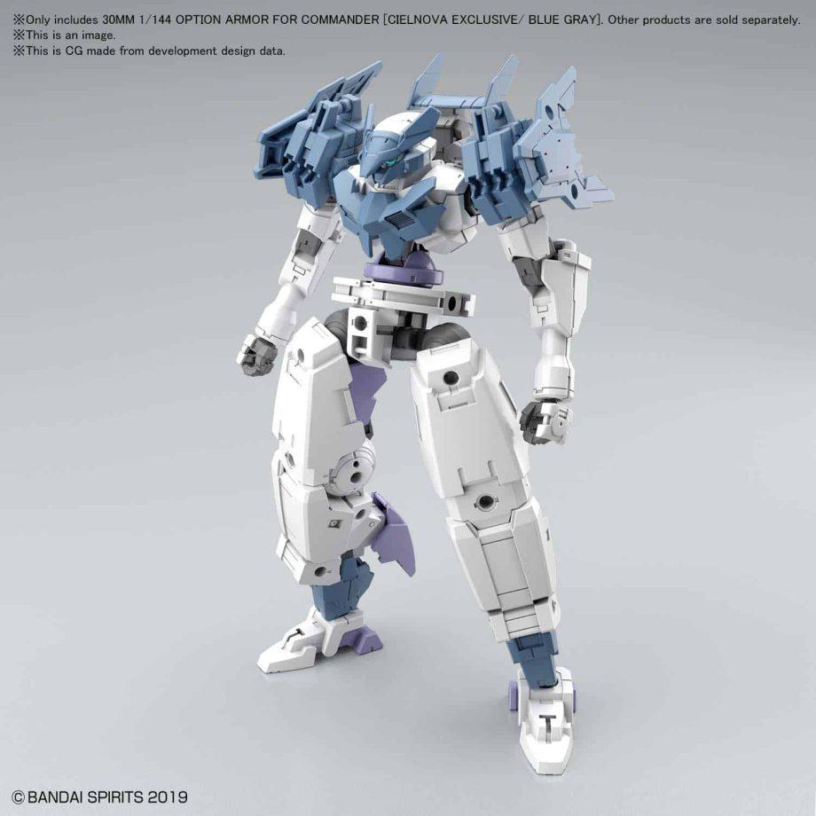 Cielnova Option Armor For Commander Blue Gray Pose 1
