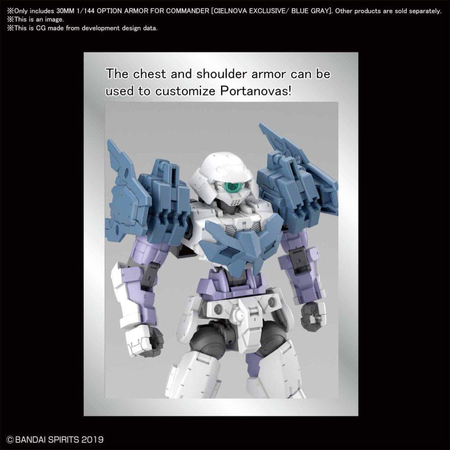 Cielnova Option Armor For Commander Blue Gray Pose 2