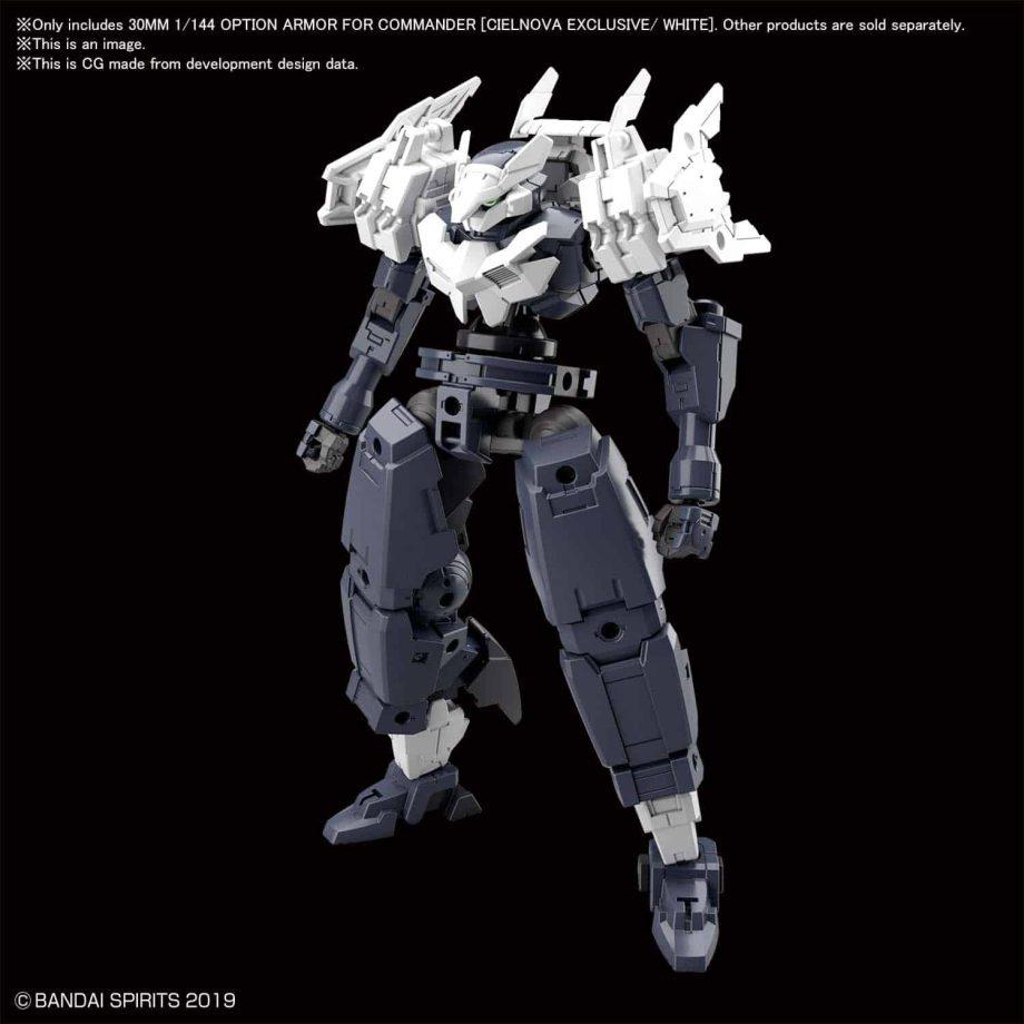 Cielnova Option Armor For Commander White Pose 1