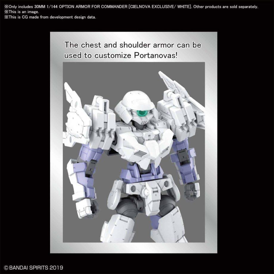 Cielnova Option Armor For Commander White Pose 3