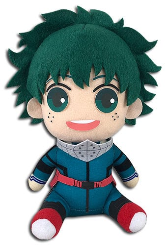 Deku Hero Costume Sitting Plush
