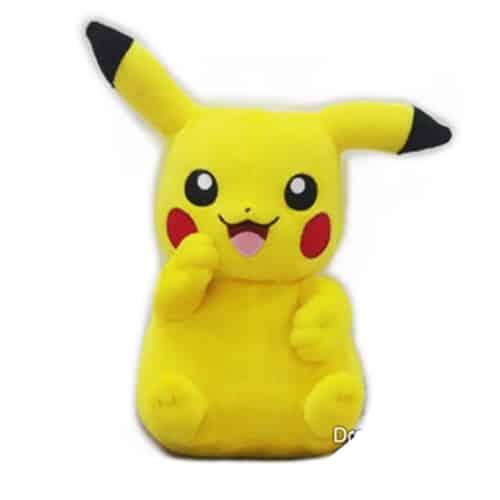 Pikachu With Arm Riased Plushie