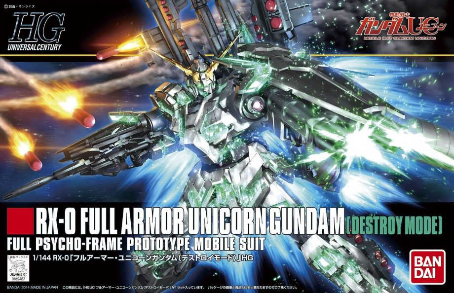 High Grade RX-0 Full Armor Unicorn Gundam Destroy Mode
