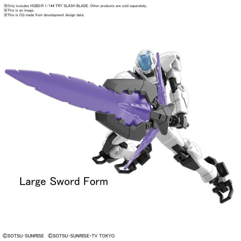 1/144 High Grade Try Slash Blade Pose 1