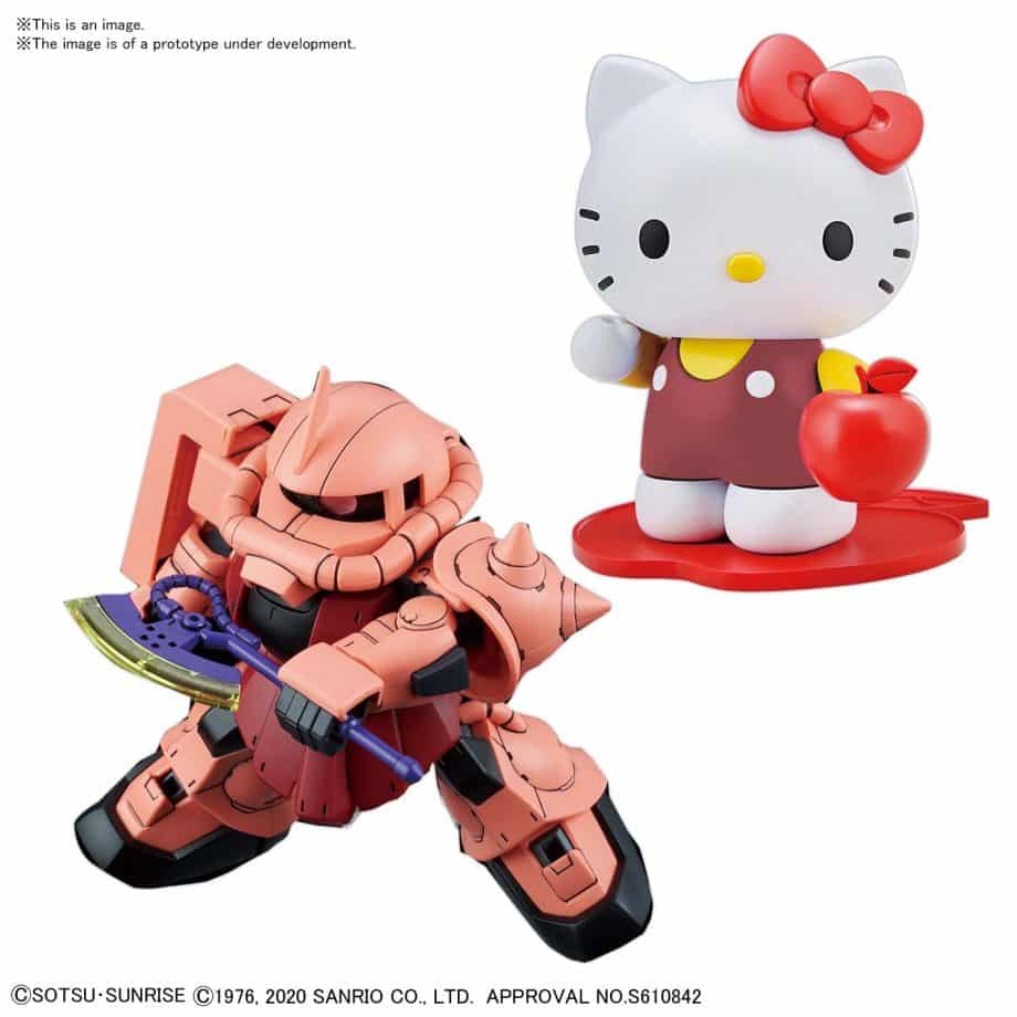 Gundam SDCS Hello Kitty/MS-06 Char Zaku II Pose 2