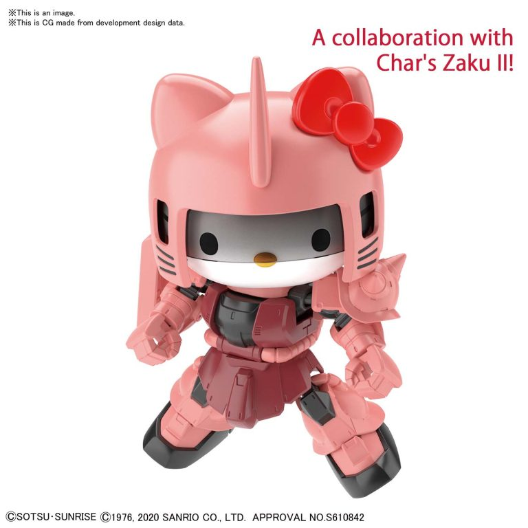 Gundam SDCS Hello Kitty/MS-06 Char Zaku II Pose 1