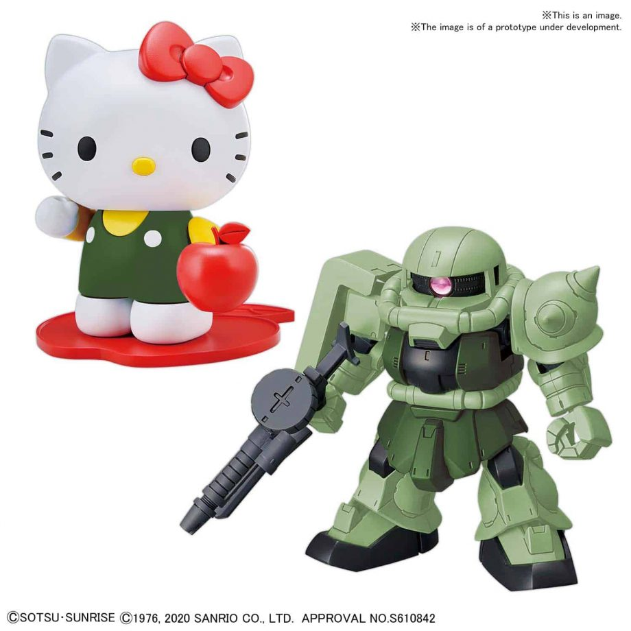 Gundam SDCS Hello Kitty/MS-06 Zaku II Pose 2