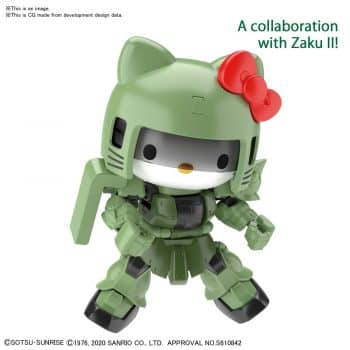 Gundam SDCS Hello Kitty/MS-06 Zaku II Pose 1