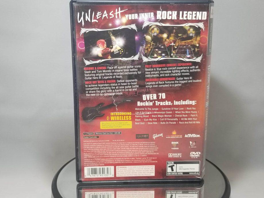 Guitar Hero III Legends Of Rock Back