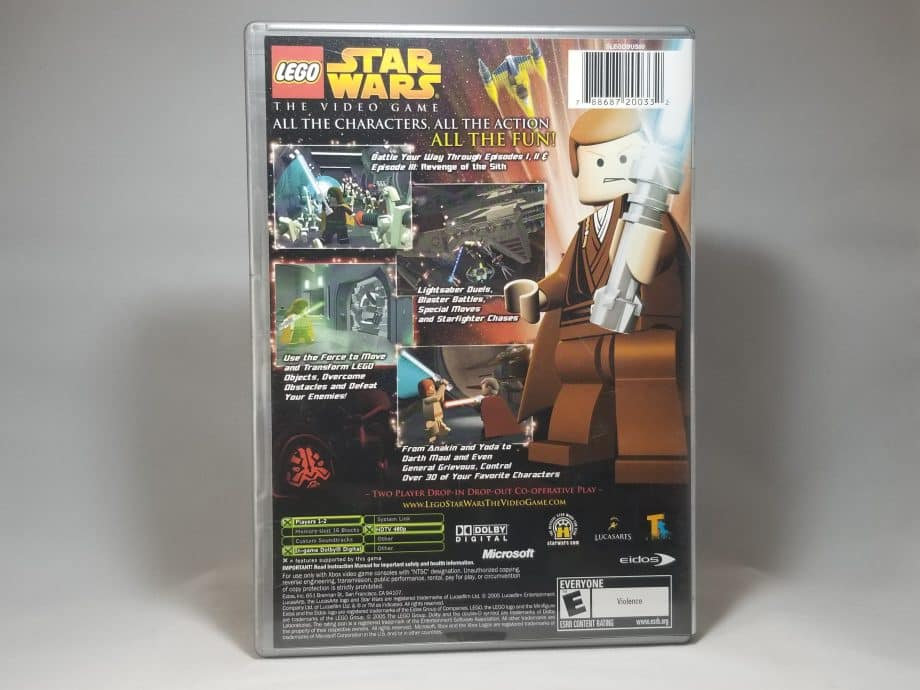 Lego Star Wars The Video Game Back