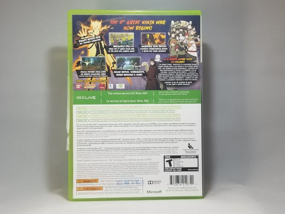 Naruto Shippuden Ultimate Ninja Storm 3 Back
