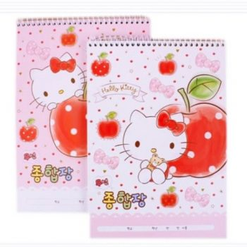 Hello Kitty Unruled Top Bound Notepad