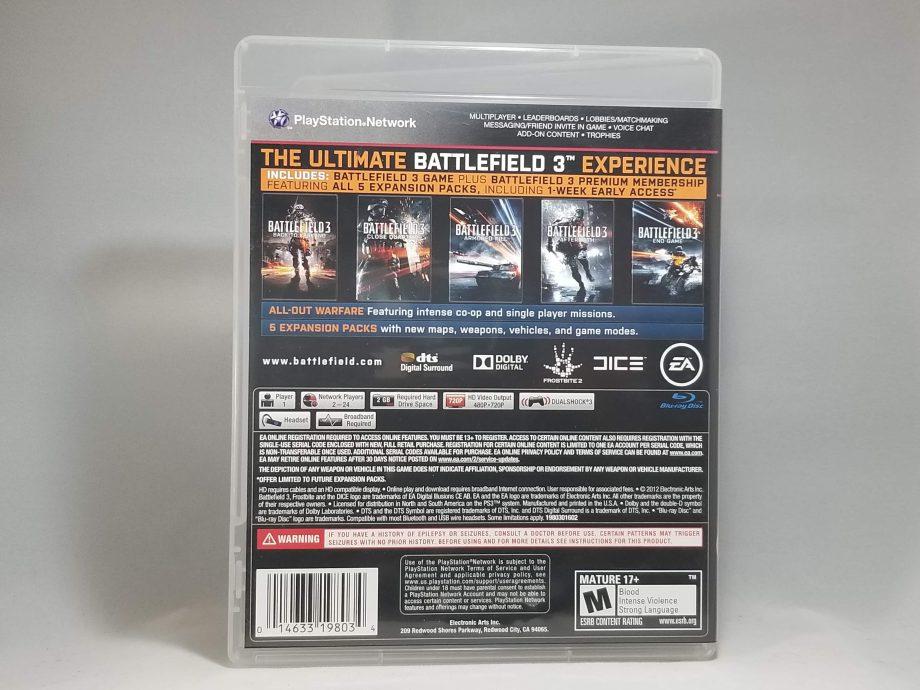 Battlefield 3 Premium Edition Back