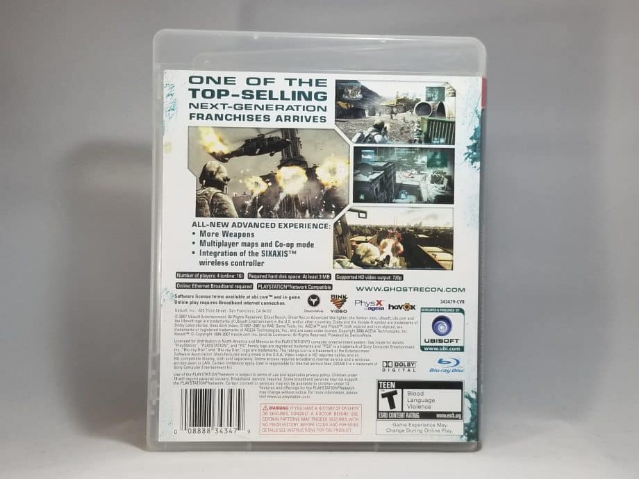 Tom Clancy's Ghost Recon Advance Warfighter 2 Back